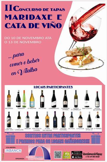 II Concurso de tapas, maridaxe e cata de viño