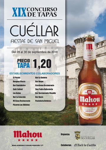 XIX Concurso de Tapas Fiestas de San Miguel - Cuéllar 2018