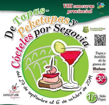 VIII Concurso Provincial de Tapas - Peketapas y cócteles por Segovia 2019