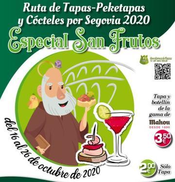 Ruta de Tapas, Peketapas y Cócteles por Segovia 2020 - Especial San Frutos