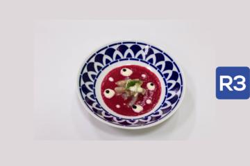 R3- Xurelo marinado, salmarejo de remolacha y mahonesa de jalapeño