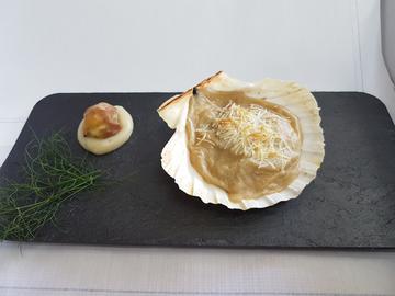 Pincho: Frutos do mar con toque de castaña