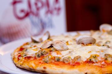 Pizza de berberechos