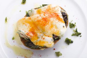 Tostas de algas con queixo
