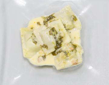 Raviolis de lacón con grelos