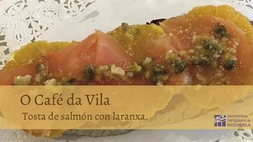 TOSTA DE SALMÓN CON LARANXA