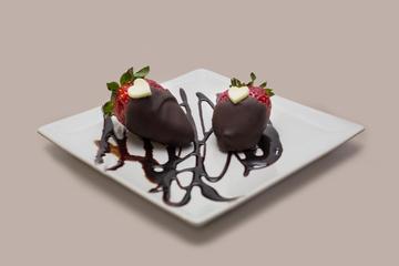 Fresas bañadas con chocolate
