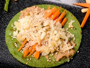 Tortita verde de arroz